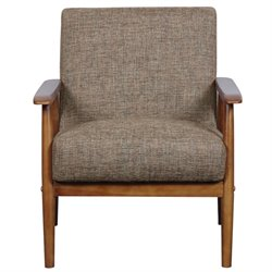 Pulaski Wood Frame Accent Chair in Brown