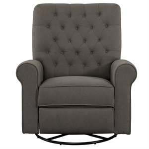 Pulaski Prime Resources Traditional Swivel Glider Recliner in Pewter