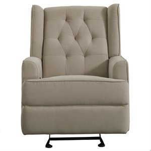 Pulaski Prime Resources Shelter Back Glider Recliner in Fresh Dune