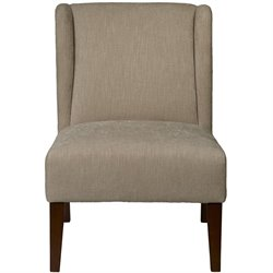 Pulaski Accentrics Home Armless Wing Back Accent Chair in Brown