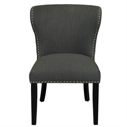 Pulaski Accentrics Home Modified Wing Back Accent Chair in Gray