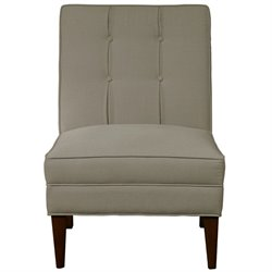 Pulaski Accentrics Home Armless Button Back Accent Chair in Gray