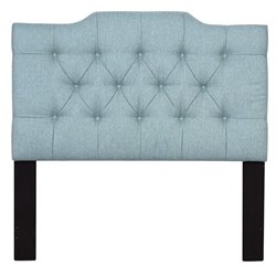 Pulaski Upholstered Full or Queen Panel Headboard in Blue