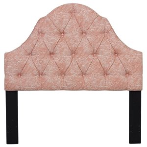 Pulaski Upholstered Full or Queen Panel Headboard in Orange