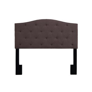 Pulaski Upholstered Panel Headboard in Dark Mocha-SH4