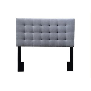 Pulaski Square Upholsterd Full or Queen Panel Headboard in Gray