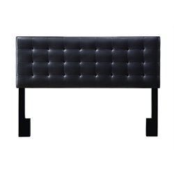 Pulaski Square Upholstered King Panel Headboard in Black