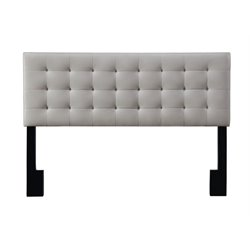 Pulaski Square Upholsterd King Panel Headboard in Brown