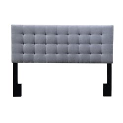Pulaski Square Upholsterd King Panel Headboard in Gray