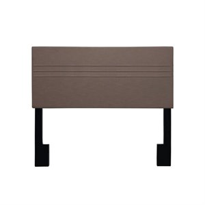 Pulaski Pintuck Upholstered Full or Queen Panel Headboard in Brown