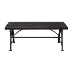 Pulaski Tiburon Wood and Metal Coffee Table in Brown