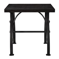 Pulaski Tiburon Wood and Metal End Table in Brown
