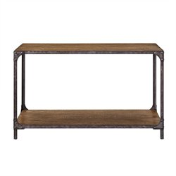 Pulaski Irwin Wood and Metal Console Table in Brown
