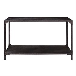 Pulaski Maywood Industrial Pub Table in Black