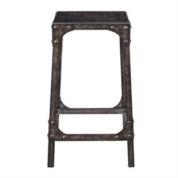 Pulaski Industrial Gathering Height Counter Stool in Black