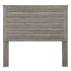 Pulaski Queen Wood Slat Headboard in Gray