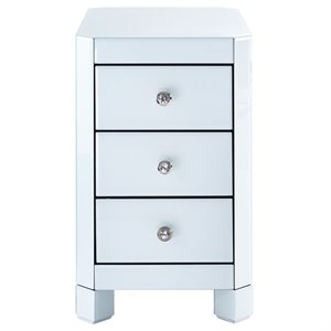 Pulaski Reverse Painted White Glass End Table in White