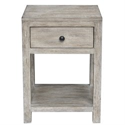Pulaski Reclaimed Wood End Table in White