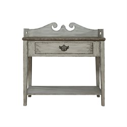 Pulaski Sophia Weathered Gray Accent Table in White