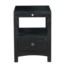 Pulaski Marnie Black End Table in Black