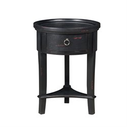 Pulaski Marnie Round Accent Table in Black