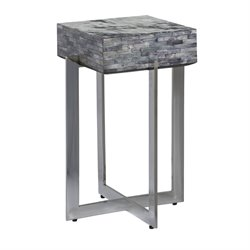 Pulaski Calvin Bone Inlay Accent Table in Gray