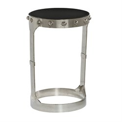 Pulaski Nolan Round Accent Table in Silver