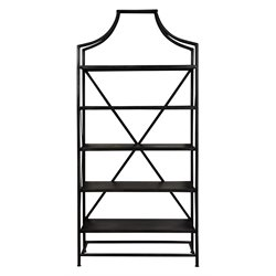 Pulaski Seneca 5 Shelf Etagere in Black