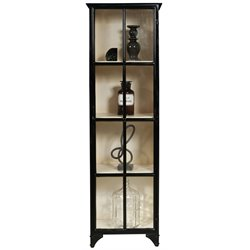 Pulaski Sunset 4 Shelf Display Cabinet in Black