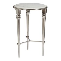 Pulaski Lott End Table in White