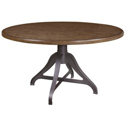 Pulaski Weston Loft Round Table in Brown