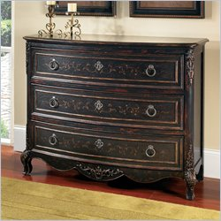 Pulaski Accents 3 Drawer Accent Chest in Versailles Black Finish
