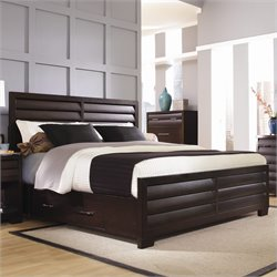 Pulaski Tangerine 330 Panel Storage Bed in Sable Finish