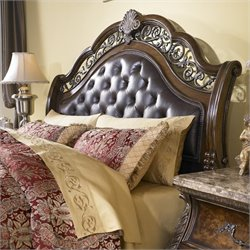 Pulaski Birkhaven Tufted Sleigh Headboard in Brown