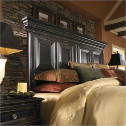 Pulaski Brookfield Panel Headboard in Ebony Finish - King / California King