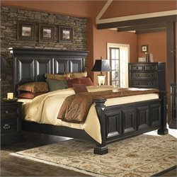 Pulaski Brookfield Panel Bed in Ebony Finish - Queen