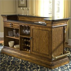 Pulaski Accents San Mateo Home Bar in Medium Wood