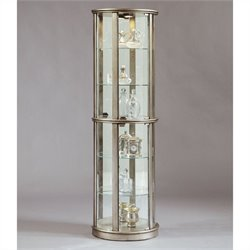 Pulaski Glass Door Curio in Silver