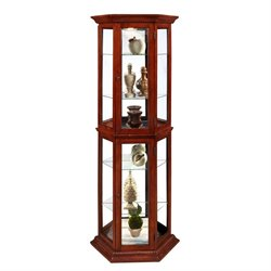 Pulaski Curios Display Cabinet in Preference Finish