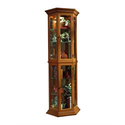 Pulaski Curios Display Cabinet in English Oak
