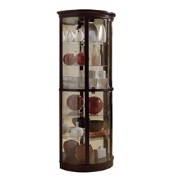 Pulaski Chocolate Cherry II Half Round Curio in Brown