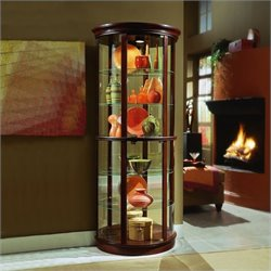 Pulaski Preference 32 Inch Wide Half Round Curio Cabinet in Dark Wood