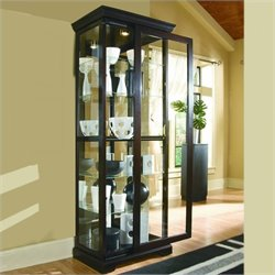 Pulaski Chocolate Cherry II 30 Inch Wide Curio Cabinet