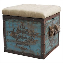 Pulaski Ottoman with Storage in Blue