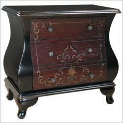 Pulaski 3 Drawer Chest in Red and Brown