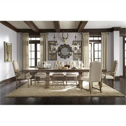 Pulaski Accentrics Home Desdemona Rectangular Table and Chairs 7 Pc Set