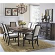 Pulaski Accentrics Home Lucia Leg Table and Chairs with Sideboard 8 Pc Set
