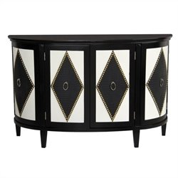 Pulaski Accent Chest in Black and White