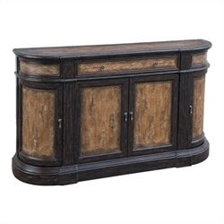 Pulaski Accents Credenza in Rubbed Brown and Rustic Cherry