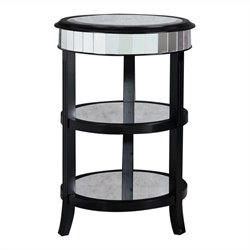 Pulaski Accents Round Table in Midnight Black